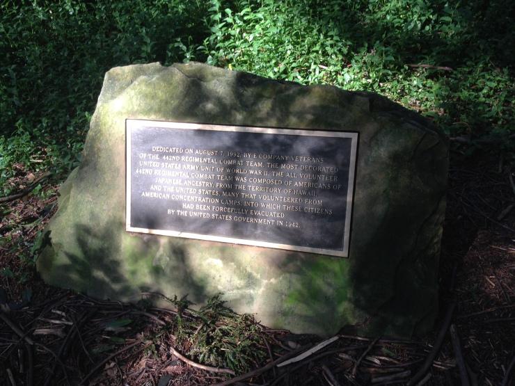 Plaque Remembering the 442nd Regimental Combat Team