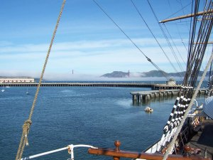 San Francisco Bay from the deck