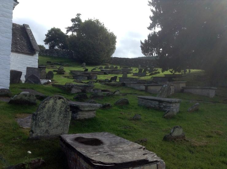 Table tombs at Llangar Church