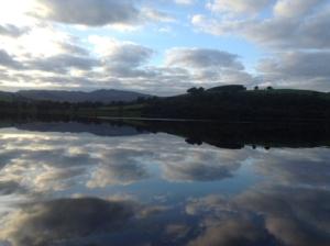 Clouds reflected In Bala Lake