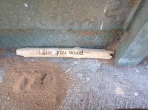 A stick inscribed